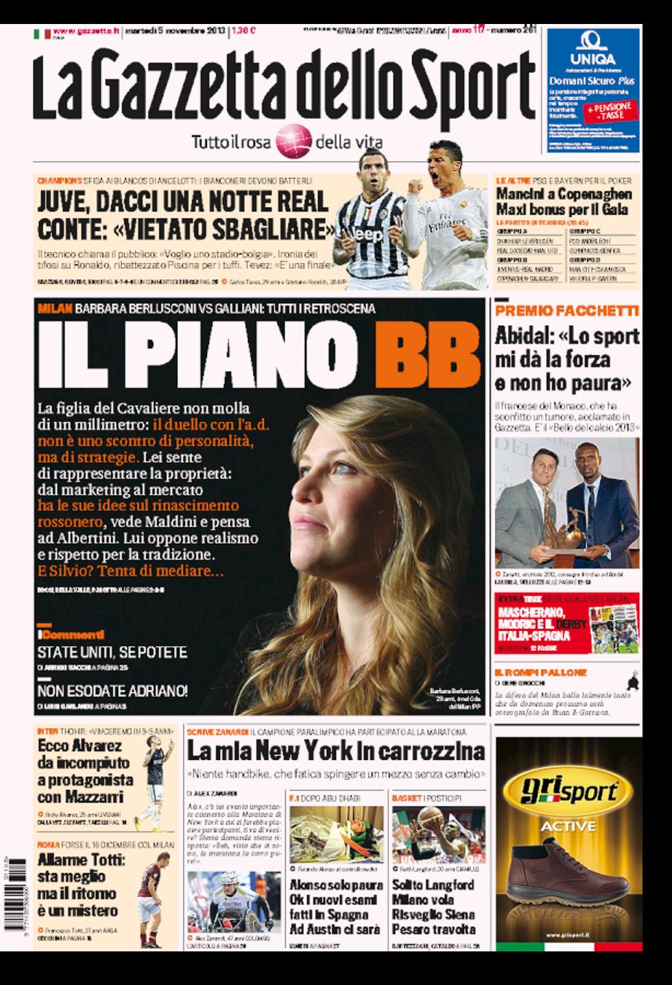 RASSEGNA - Il piano di BB per il Milan