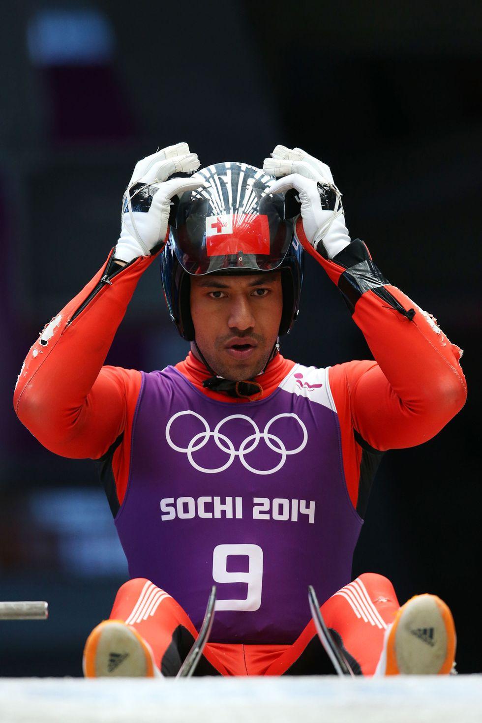 Bruno Banani: in mutande per lo slittino (e per Tonga) a Sochi