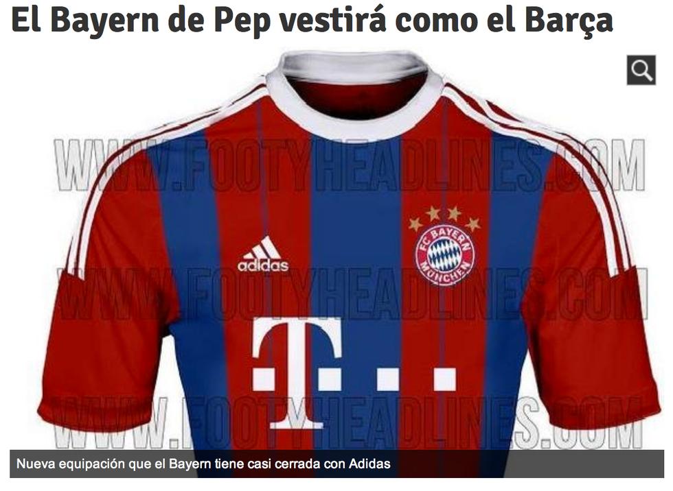 Guardiola plagia il Barcellona: maglia blaugrana per il Bayern