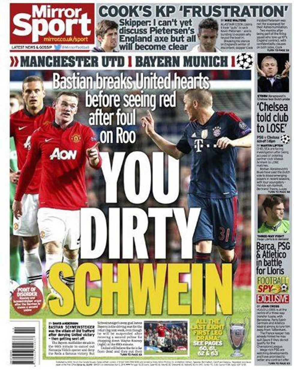 E il Bayern va alla guerra contro Mirror e The Sun...