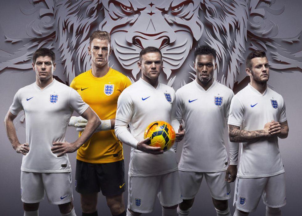 Mondiali 2014, le nuove maglie dell'Inghilterra