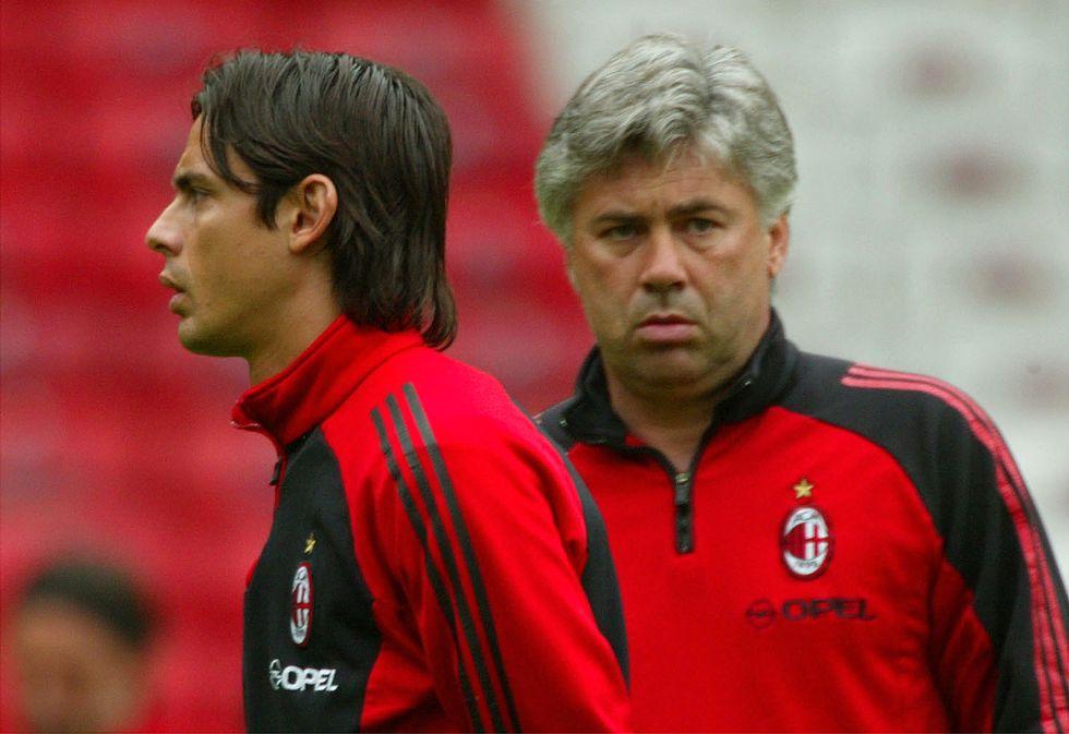 Il sogno del Milan: Ancelotti e Inzaghi di nuovo insieme