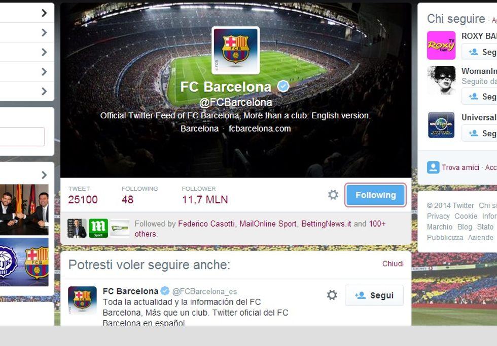 Il Barcellona vince ancora la Champions League (dei social)
