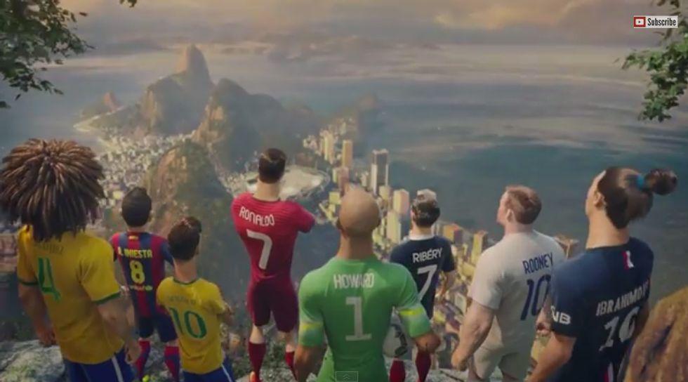 Ronaldo, Neymar, Ibra & Co. diventano un cartoon
