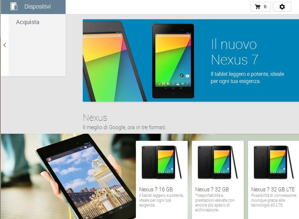Google Play Store: i dispositivi Nexus arrivano in Italia