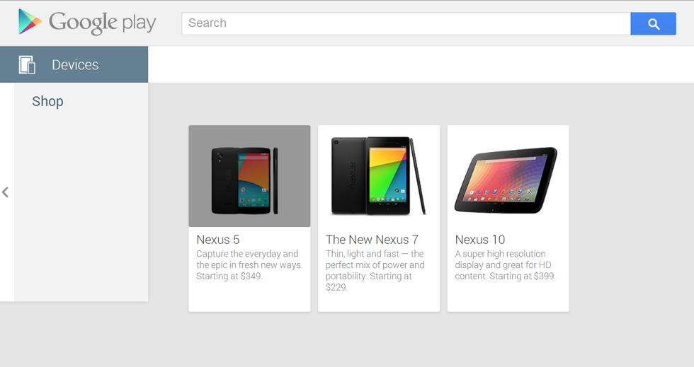 Nexus 5 appare (per poco) su Play Store: a 349 dollari