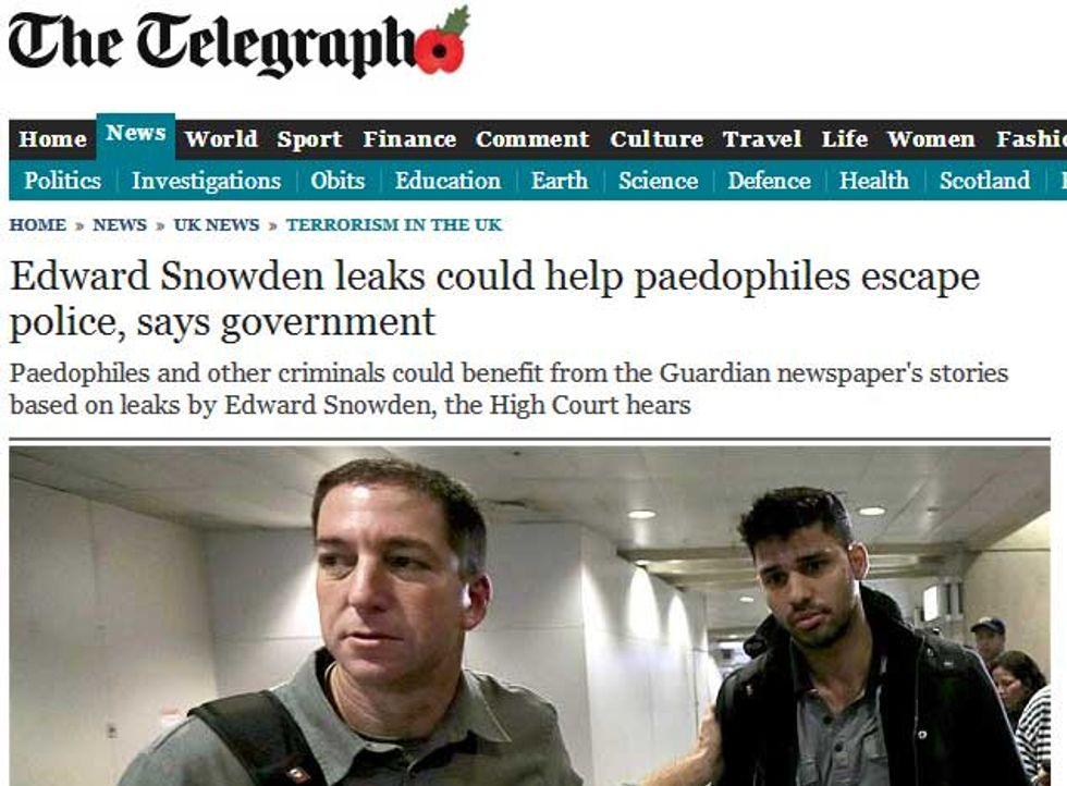 """Telegraph: """"Le rivelazioni di Snowden aiutano i pedofili"""""""