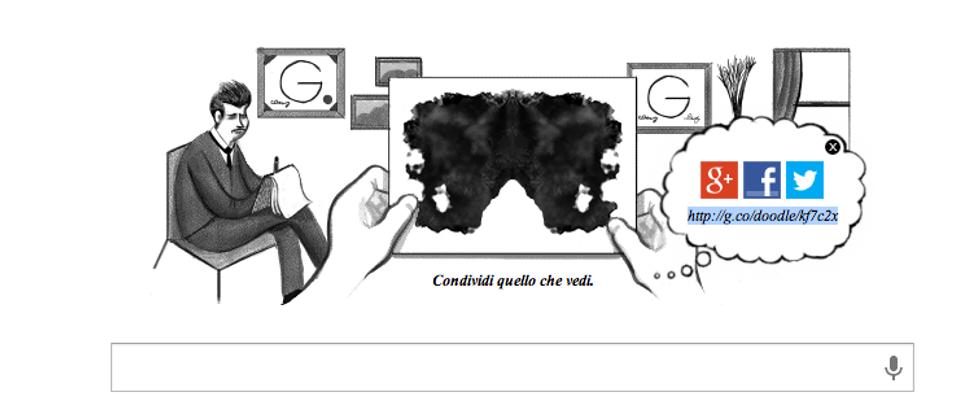 Un doodle per il test delle macchie di Rorschach