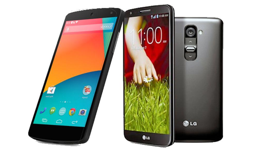 Nexus 5 vs LG G2, derby tra primi della classe