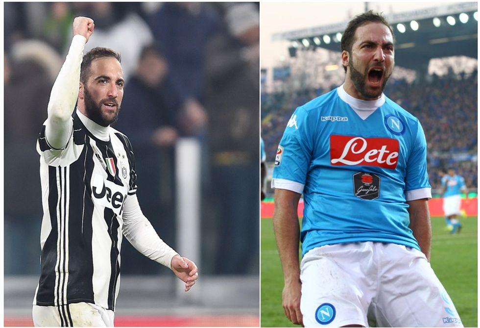 Higuain e il ritorno al San Paolo: ecco i suoi numeri con Napoli e Juventus