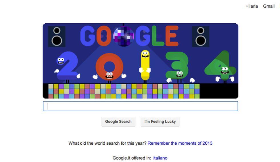 Google, un Doodle per la fine del 2013 e l'inizio del 2014