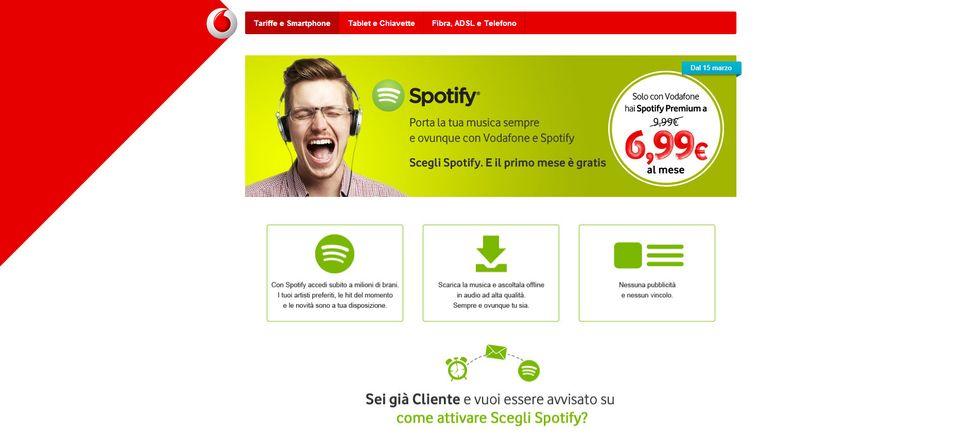 Spotify Premium: con Vodafone hai il 30% di sconto