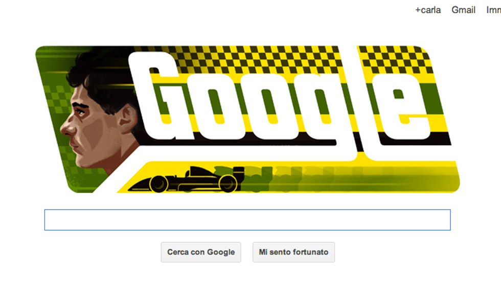 Un doodle per ricordare Ayrton Senna