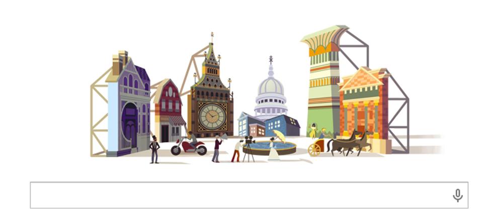 Cinecittà: un doodle per i 77 anni