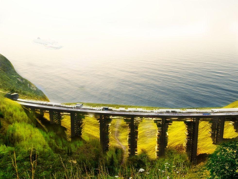 In futuro vivremo sotto i ponti, in grattacieli rovesciati