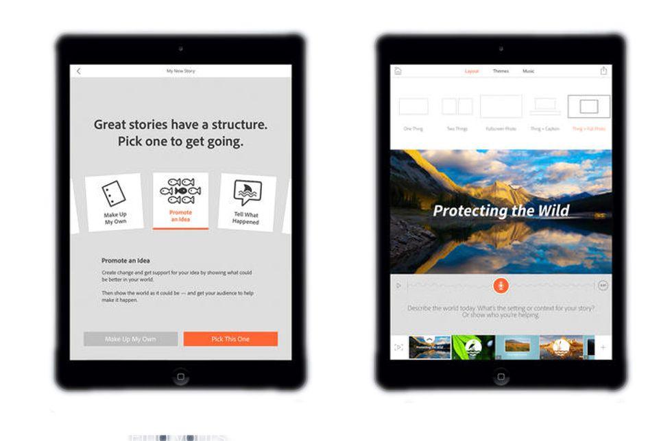 Adobe Voice, l'app per raccontare... con un video
