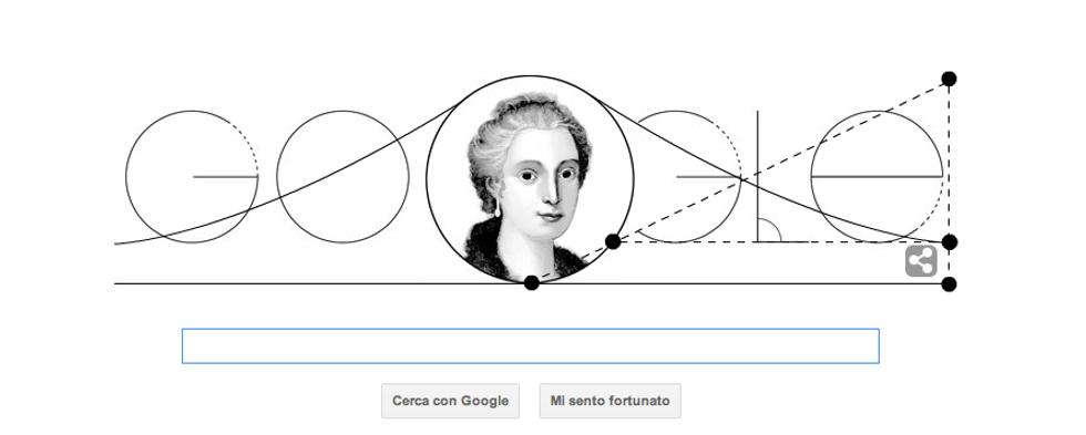Un doodle per Maria Gaetanea Agnesi