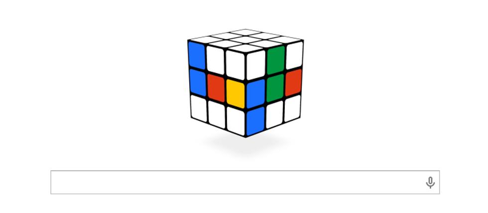 Un doodle per il Cubo di Rubik