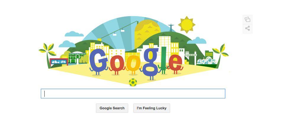 Google, un Doodle per i Mondiali di calcio 2014