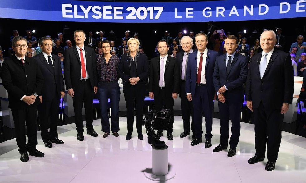 elezioni presidenziali francia 2017 candidati dibattito tv