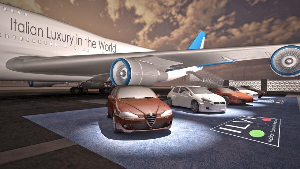 Il made in Italy viaggia su un aereo show-room