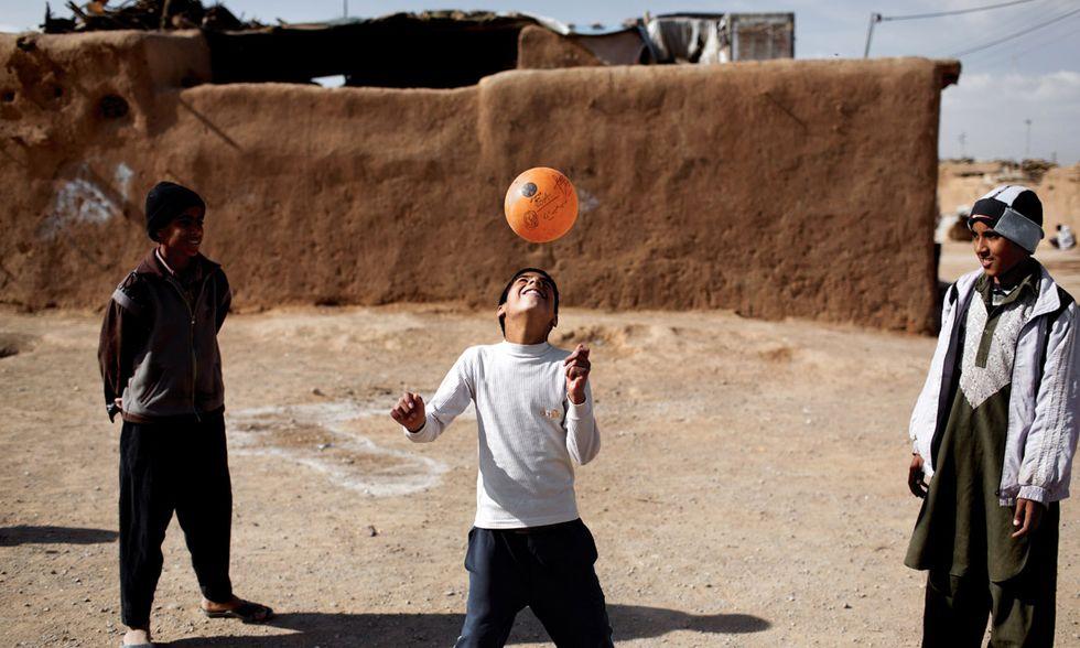Un ragazzo afgano