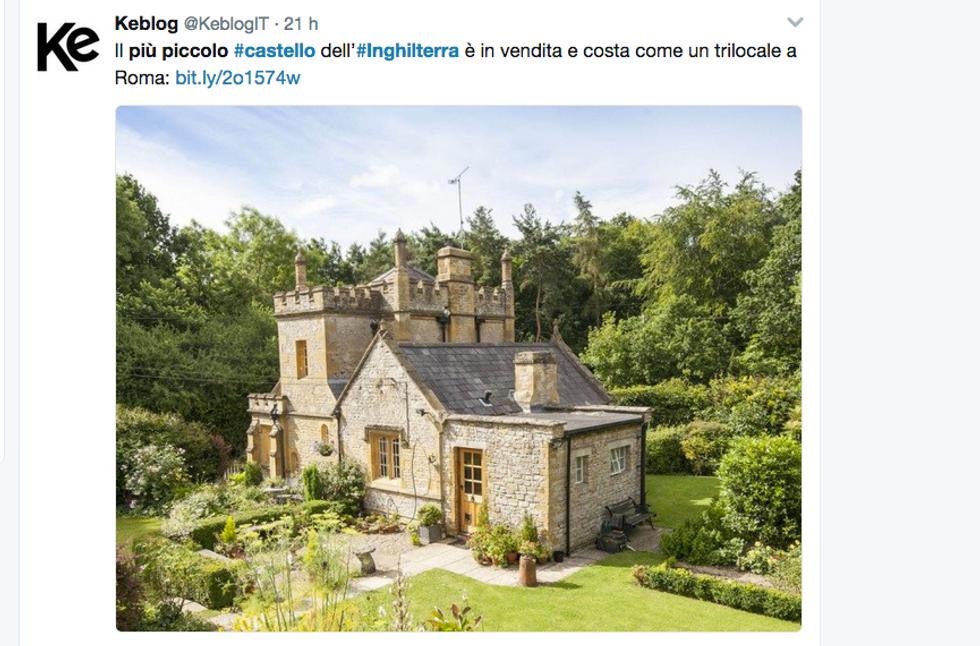 Il castello più piccolo d'Inghilterra