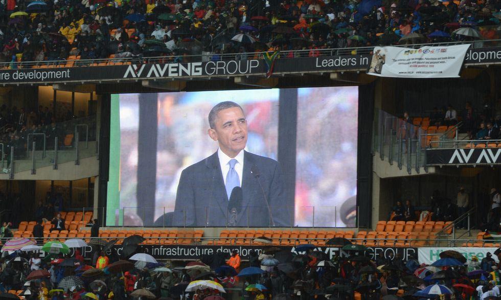 L'omaggio di Obama a Nelson Mandela