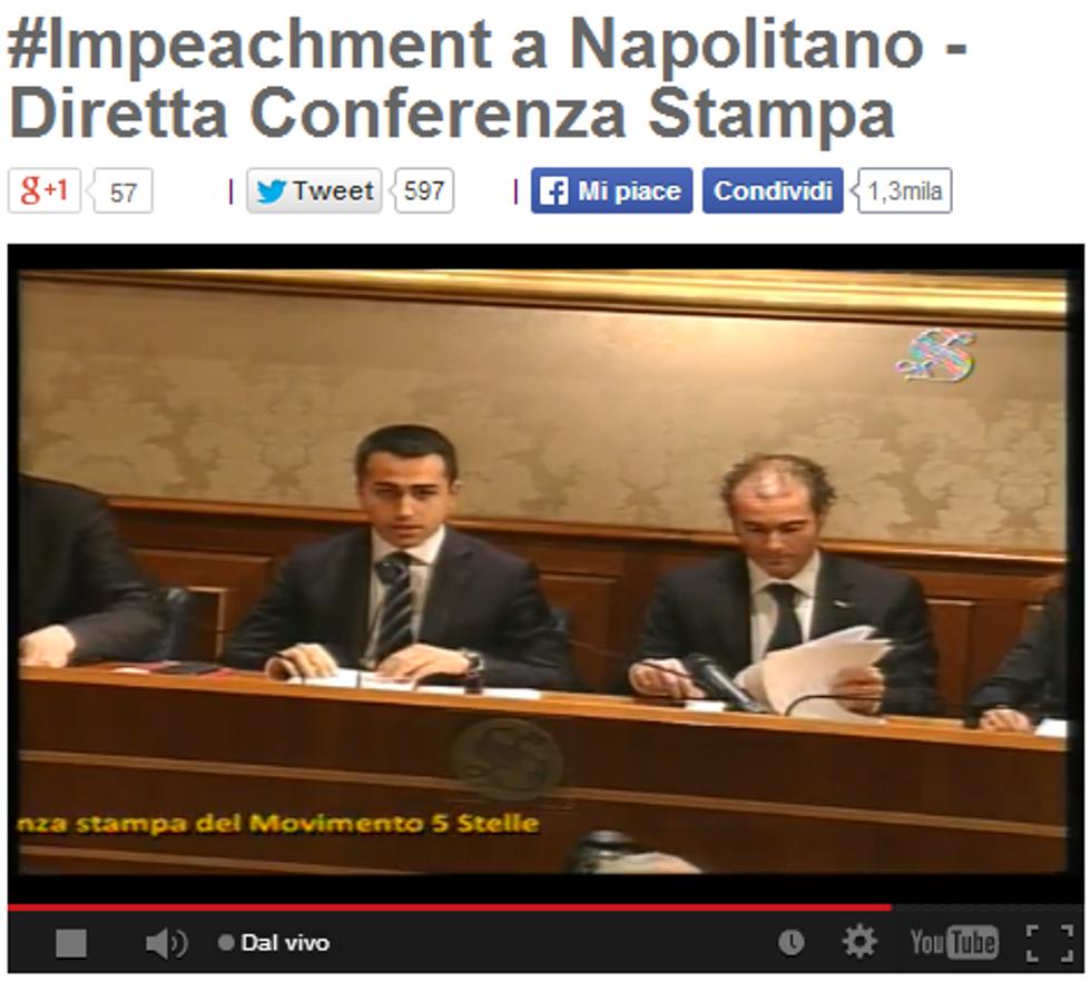 M5S, impeachment contro Napolitano. Motivi e precedenti
