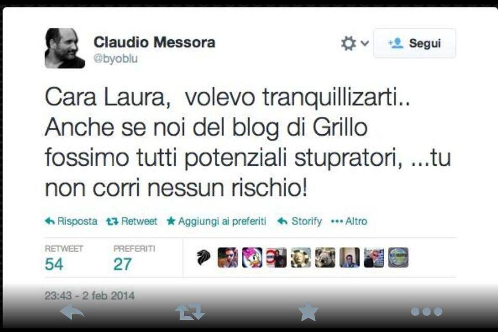 Grillo vs Boldrini: i messaggi della vergogna