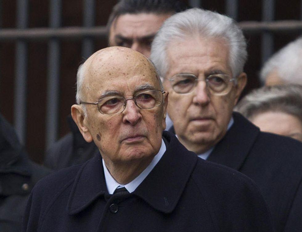 Napolitano-Monti, e l'imboscata a Berlusconi