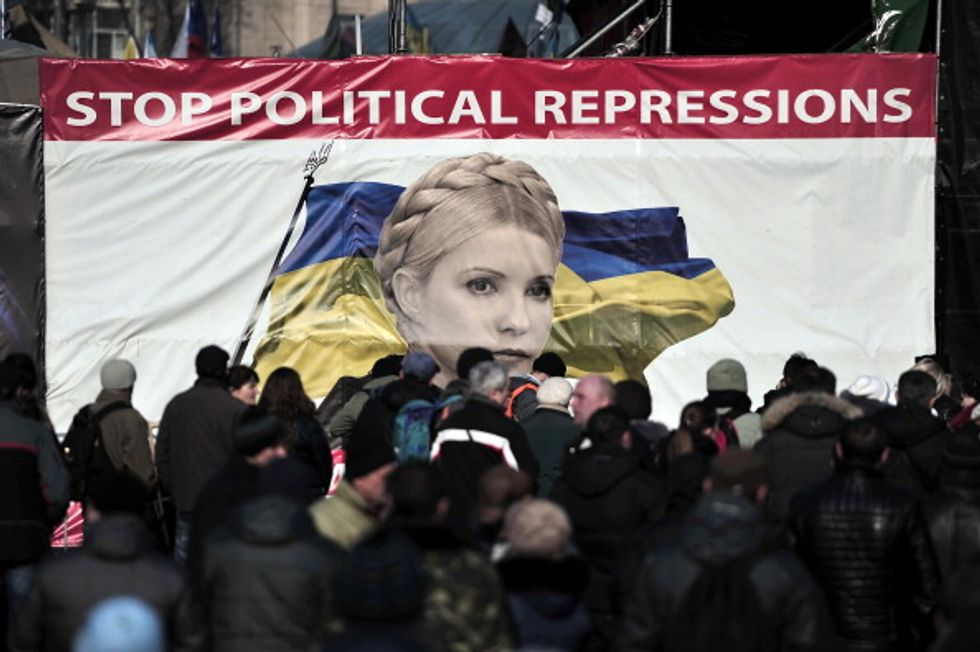 Ucraina, fine del primo tempo