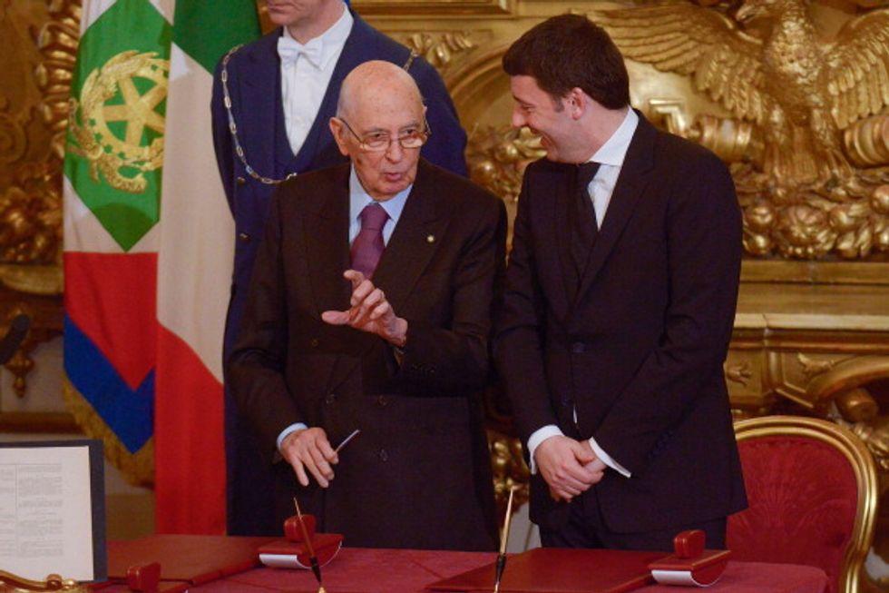 Napolitano, lo stopper di Renzi