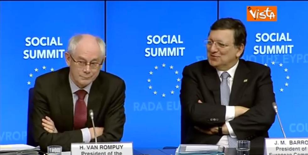Barroso e Van Rompuy ridono di noi. Ma chi sono?