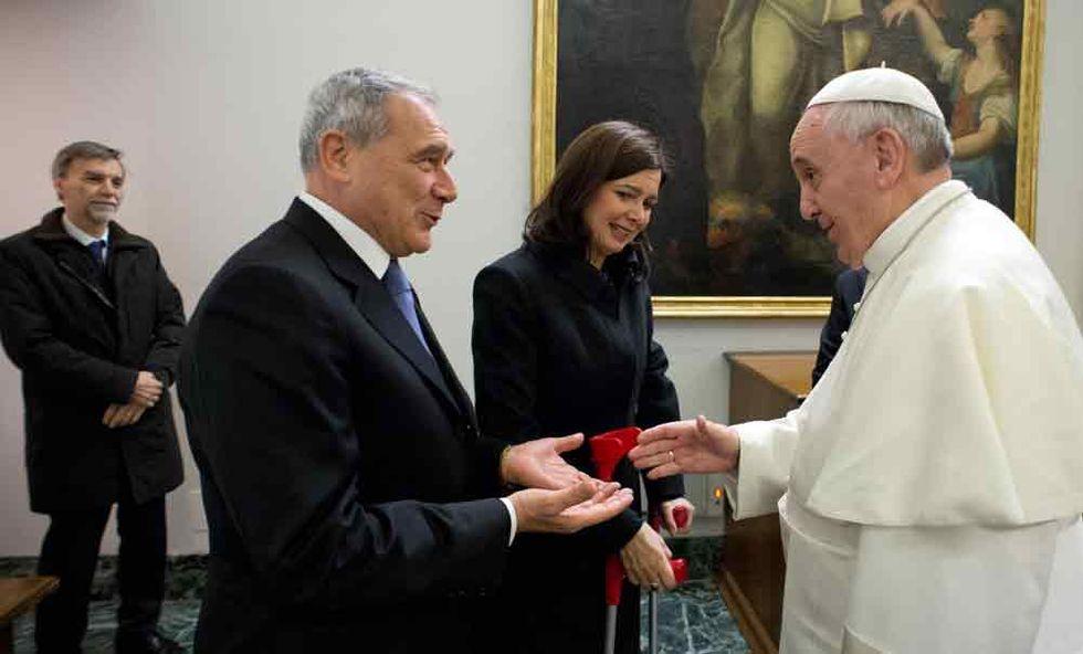 """Delusione tra i politici dopo la """"predica"""" del Papa"""