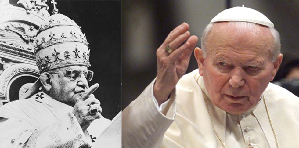 Roma è pronta per la canonizzazione di Giovanni Paolo II e Giovanni XXIII