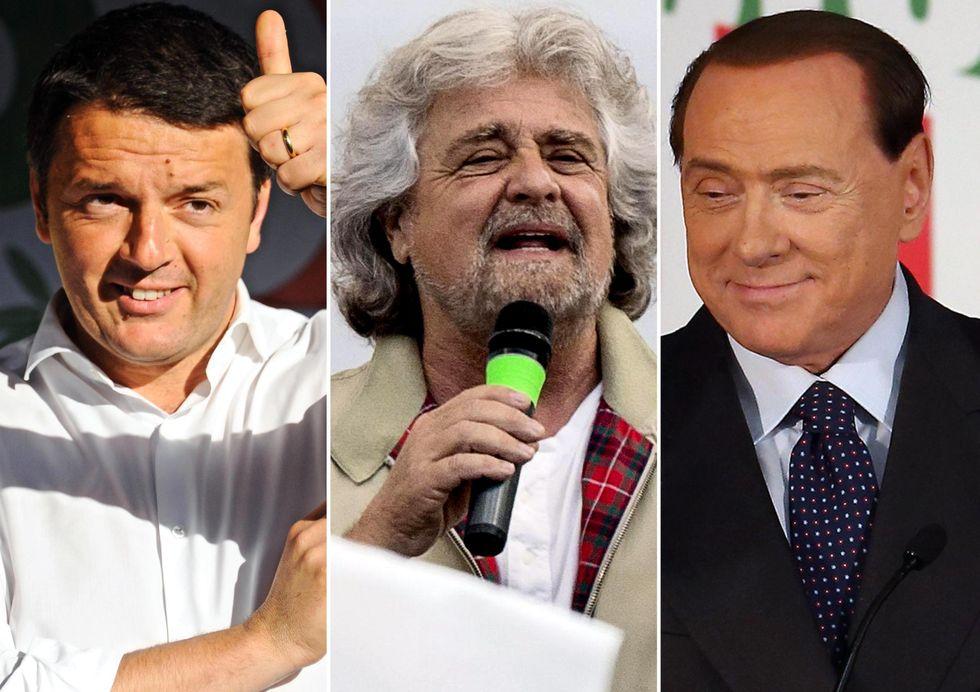 Vince Renzi, grazie a Grillo