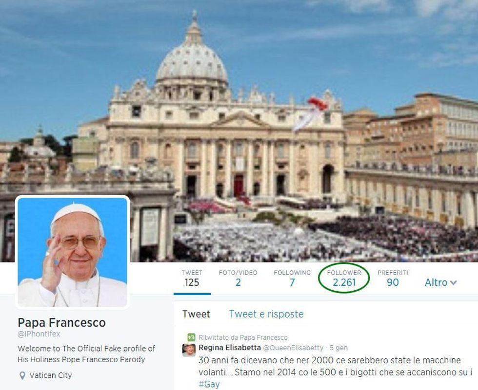Il Papa tocca quota 14 milioni di fan su twitter