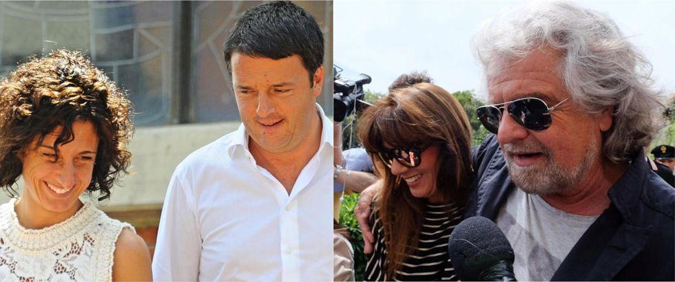 Grillo, Renzi e la politica dei due forni