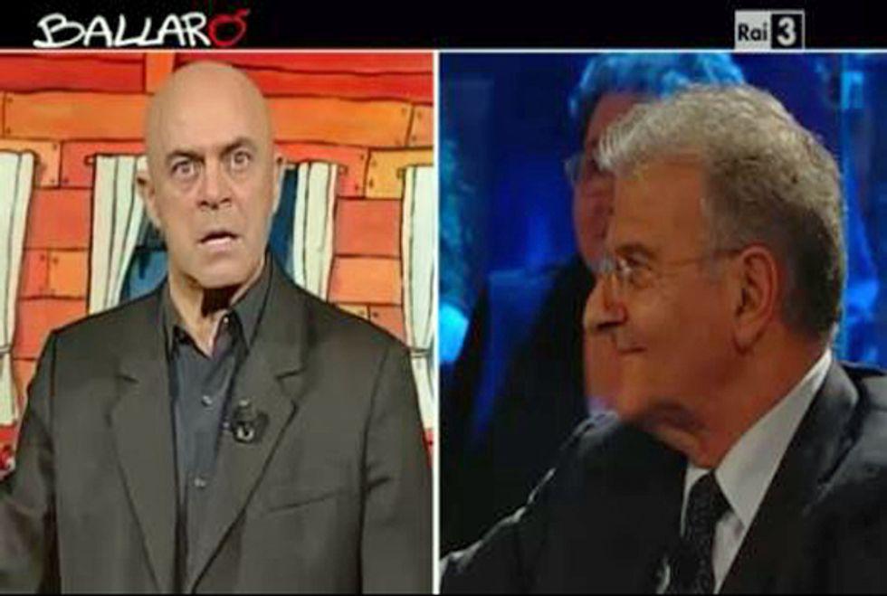 """Ascolti 01/10: """"Ballarò"""" vince con la rissa Sallusti-Cicchitto"""