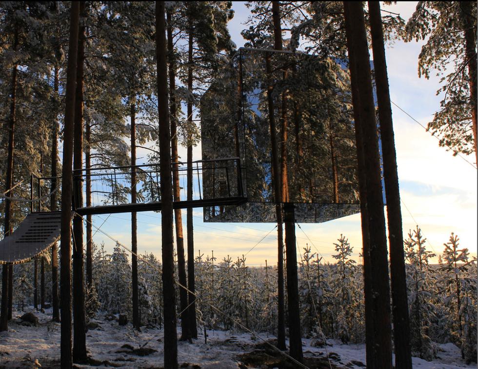 Tree Hotel: una vacanza sugli alberi