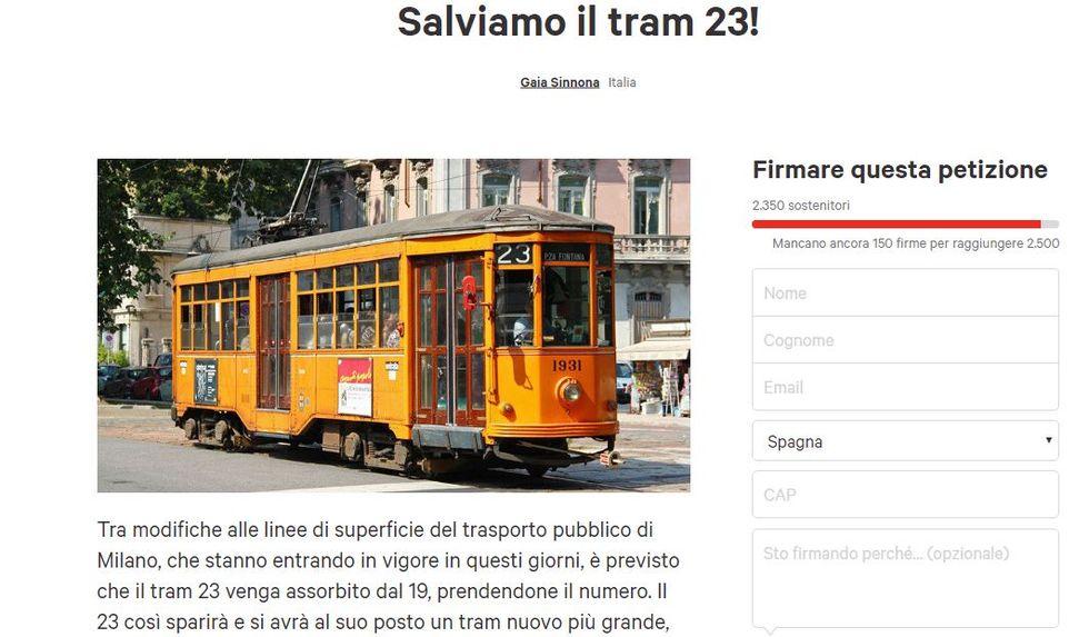 Salviamo il tram 23