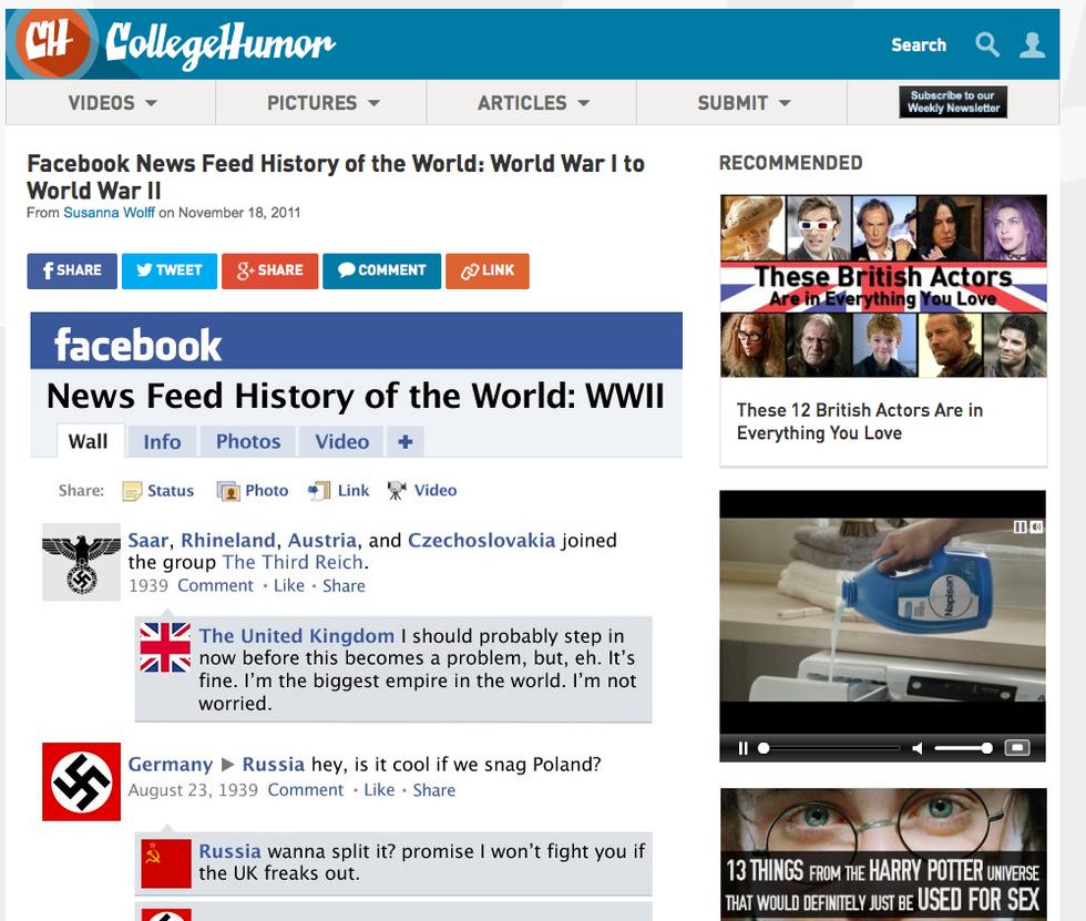 I social network, maestri di storia. E di vita...