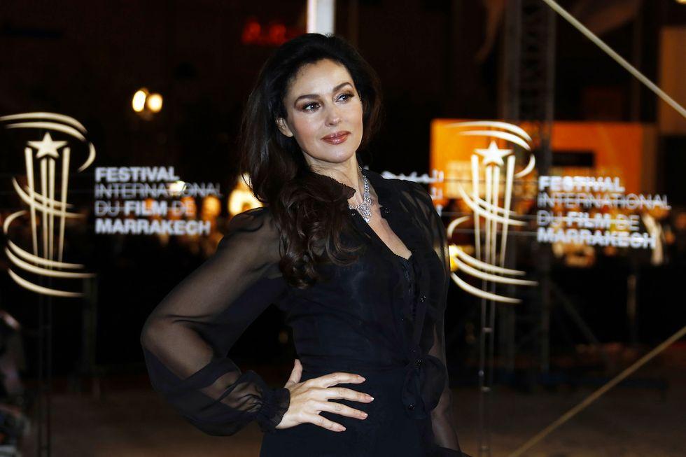 Monica Bellucci a casa di Ilaria D'Amico
