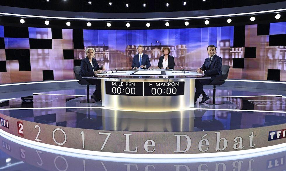 Francia dibattuto Macron Le Pen