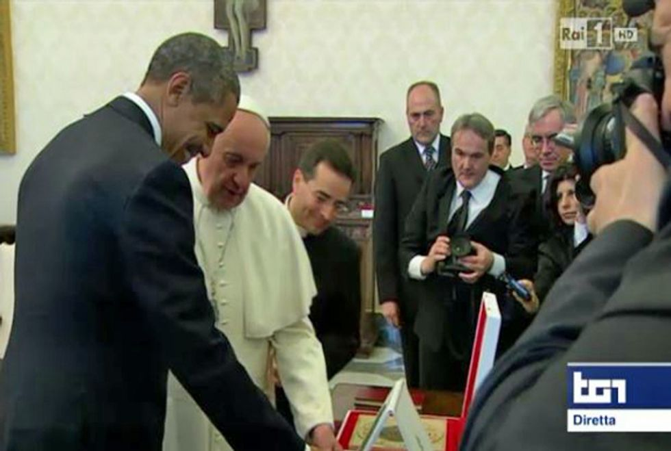 Ascolti 27/3: Obama bene con il Papa, male con Renzi