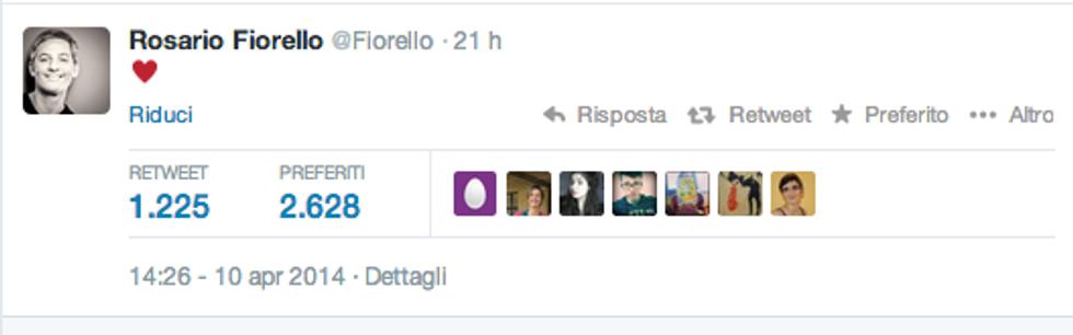 Fiorello torna col cuore su Twitter