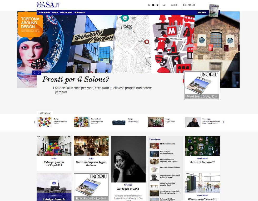 GraziaCasa.it, debutta il sito del mensile Mondadori dedicato a stile e design
