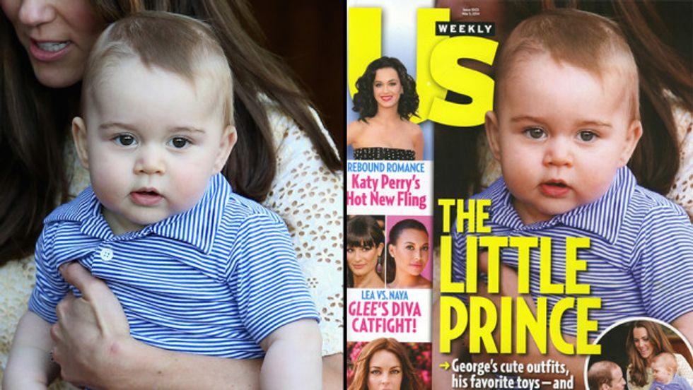 Ritocchino anche per il piccolo George? I tabloid inglesi insorgono
