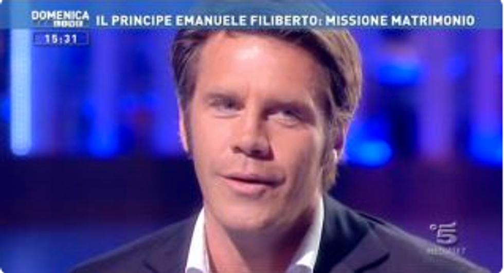 """Emanuele Filiberto: """"Voglio risposare mia moglie Clotilde"""""""
